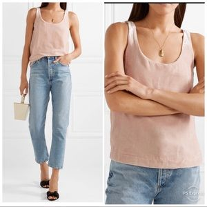 J. Crew Rift Velvet Light Pink Tank Top Shirt 2 S
